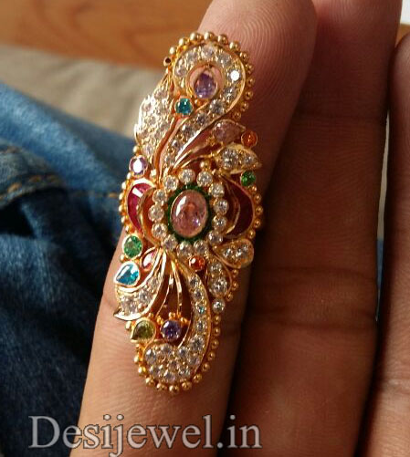 Marwadi Rajasthani fancy gold Ladies-Ring And Weight is 7-8 gm