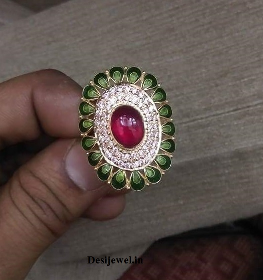 Marwadi Rajasthani fancy gold Ladies-Ring And Weight is 7 gm