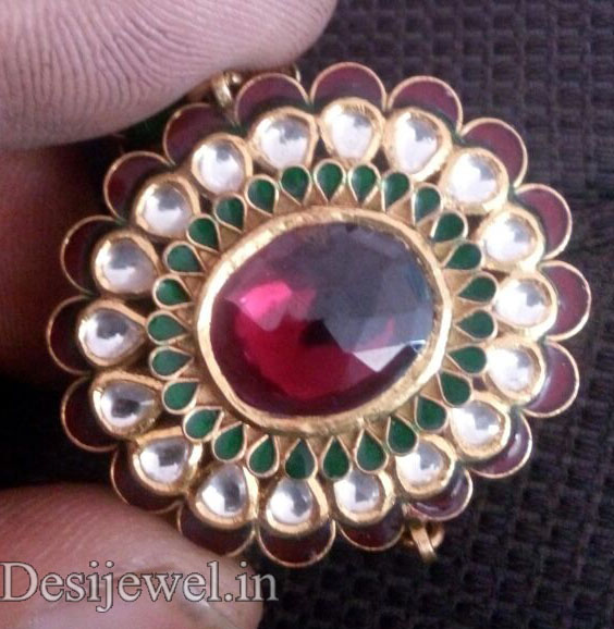 Marwadi Rajasthani fancy gold Ladies-Ring And Weight is 6 gm