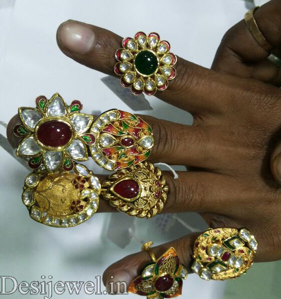 Marwadi Rajasthani fancy gold Ladies-Ring And Weight is 10-15 gm
