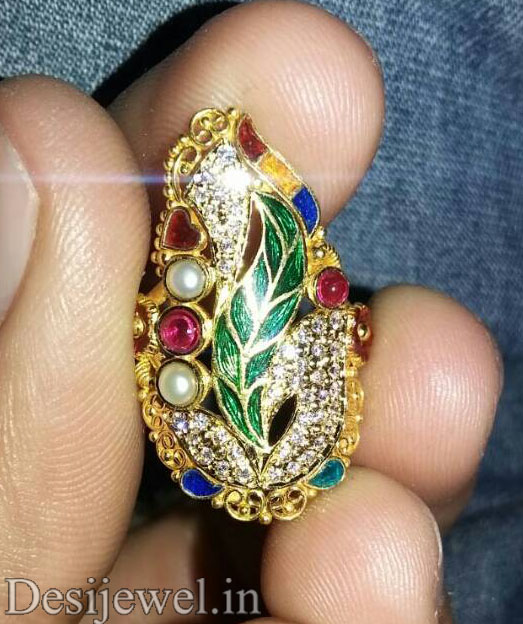 Marwadi Rajasthani fancy gold Ladies-Ring And Weight is 4-5 gm