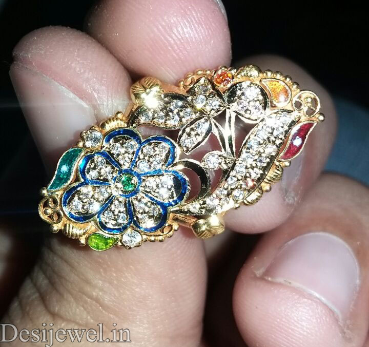 Marwadi Rajasthani fancy gold Ladies-Ring And Weight is 5 gm
