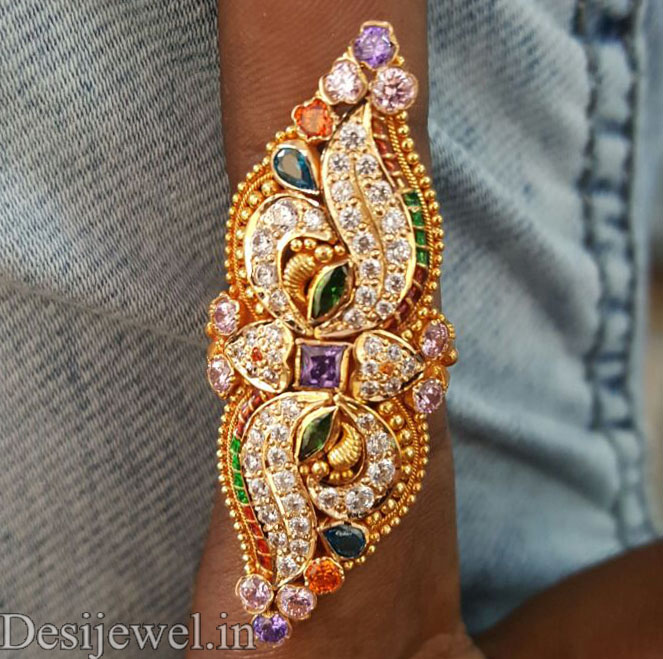 Marwadi Rajasthani fancy gold Ladies-Ring And Weight is 5-6 gm