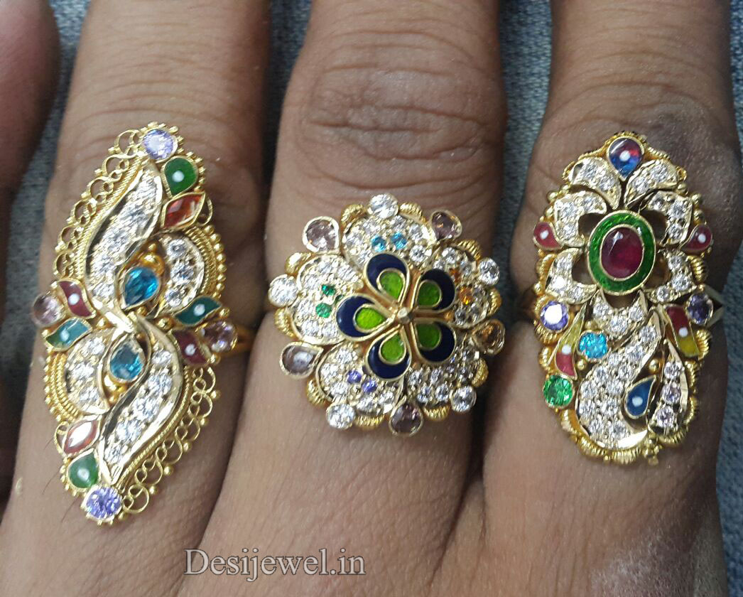 Marwadi Rajasthani fancy gold Ladies-Ring And Weight is 4-6 gm