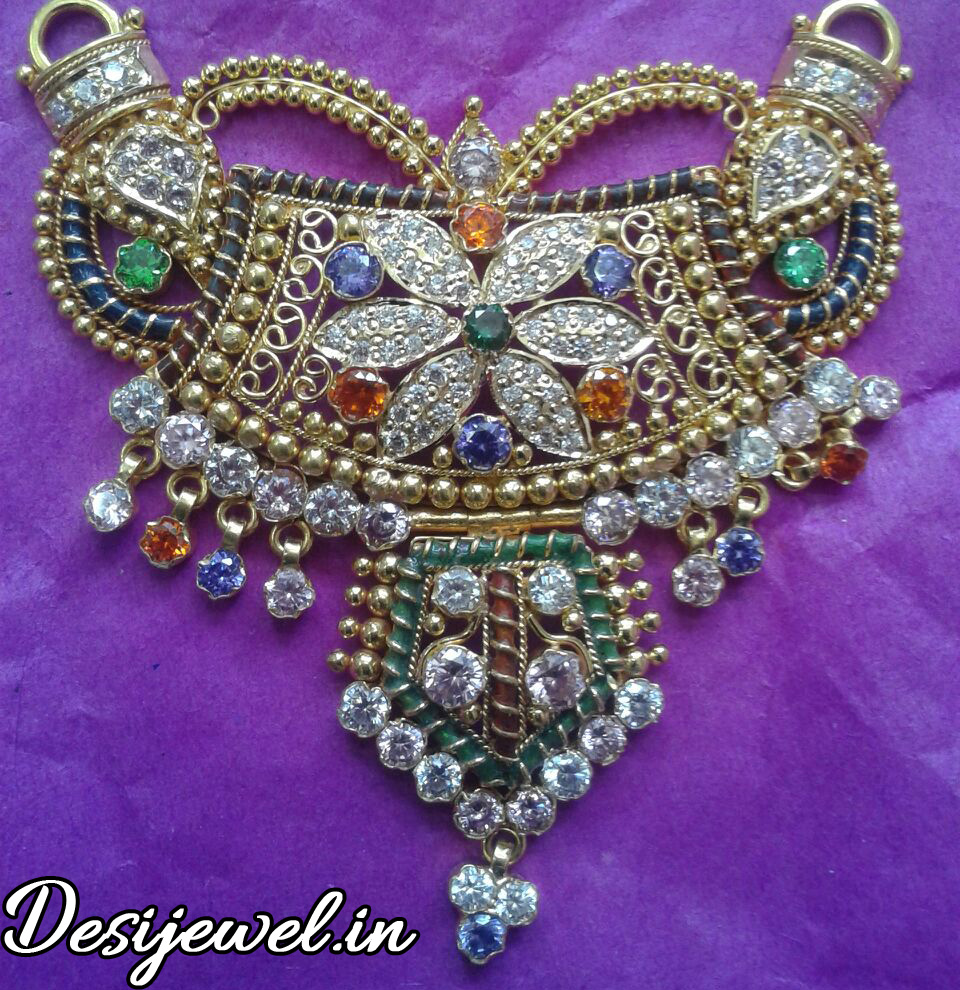 Marwadi Rajasthani fancy gold Mangalsutra And Weight is 16-18 gm