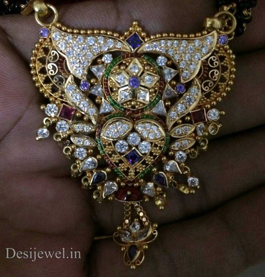 Marwadi Rajasthani fancy gold Mangalsutra And Weight is 11-12 gm