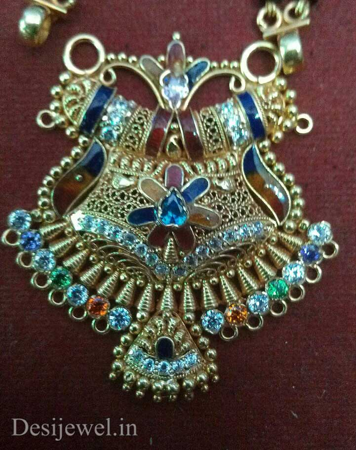 Marwadi Rajasthani fancy gold Mangalsutra And Weight is 9-11 gm