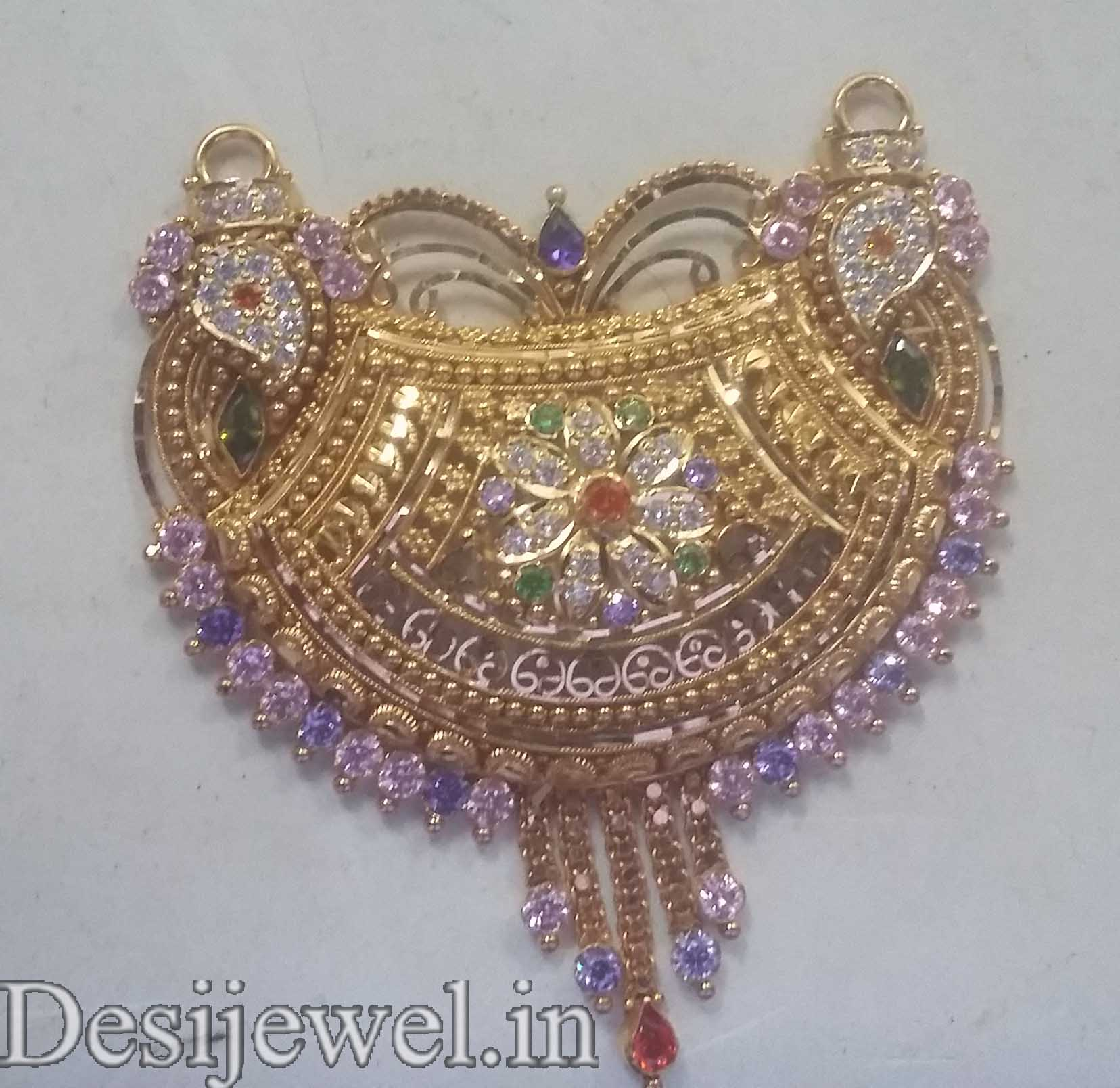 Marwadi Rajasthani fancy gold Mangalsutra And Weight is 15-16 gm