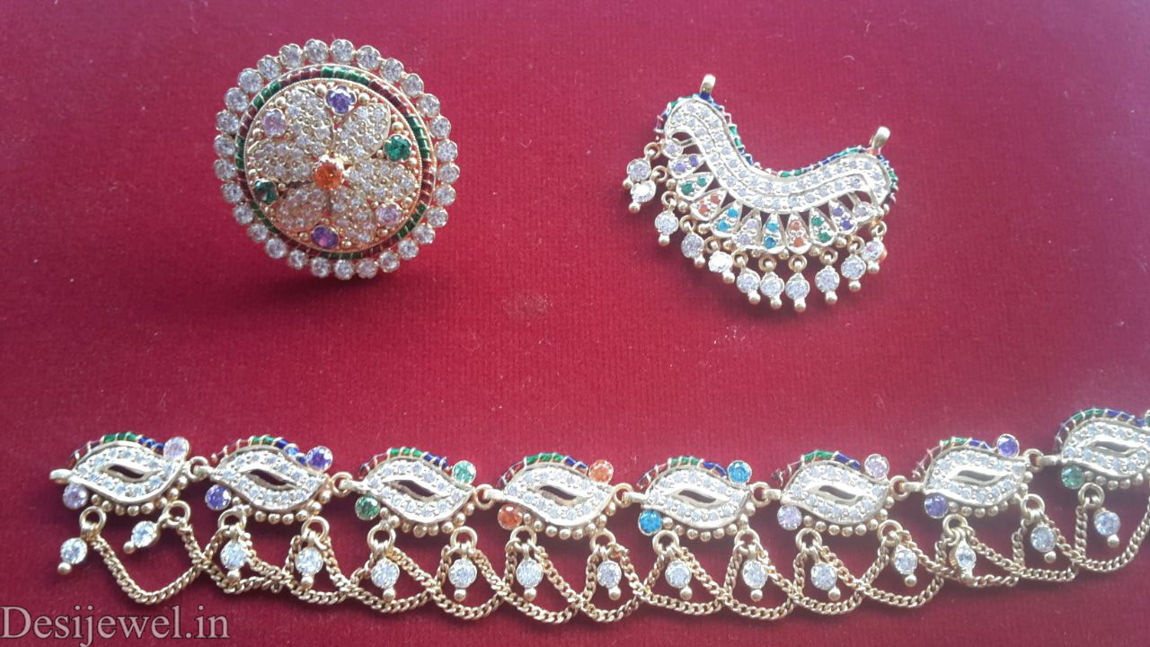 Marwadi Rajasthani gold fancy Rakhdi-Set