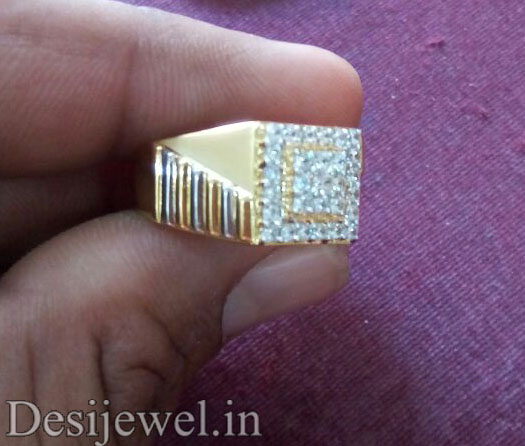 Rajasthani Gold Gents Ring Design  in Jodhpur with weight of 6-6.5 GM