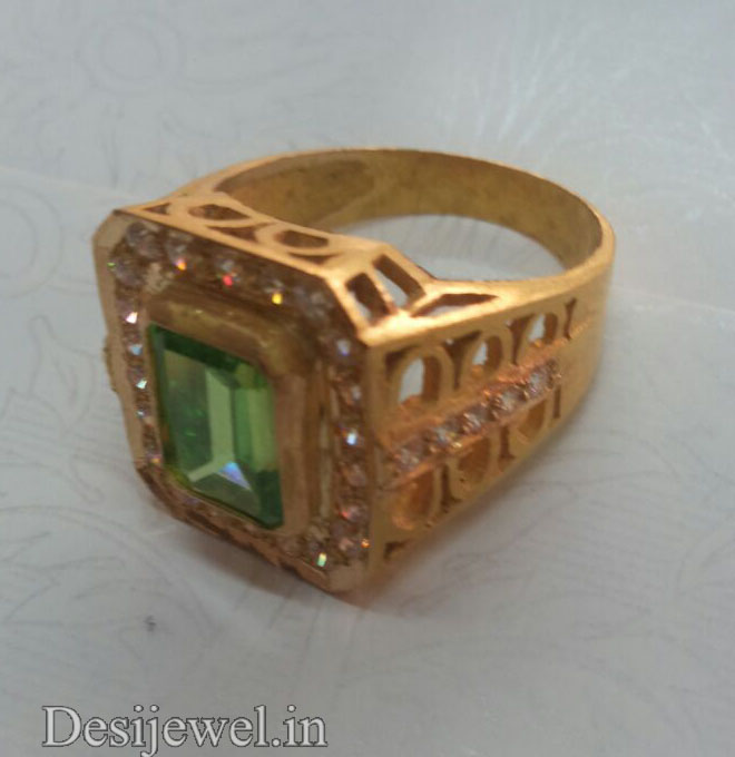 Rajasthani Gold Gents Ring Design  in Jodhpur with weight of 5-6 GM