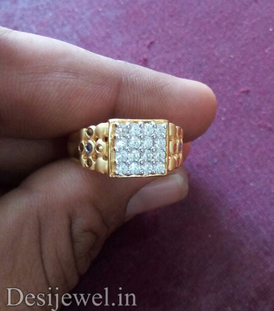 Rajasthani Gold Gents Ring Design  in Jodhpur with weight of 5 GM