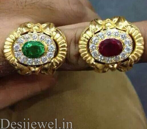 Rajasthani Gold Gents Ring Design  in Jodhpur with weight of 4-5 GM