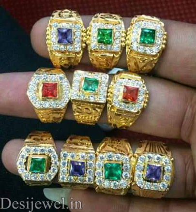 Rajasthani Gold Gents Ring Design  in Jodhpur with weight of 4 GM