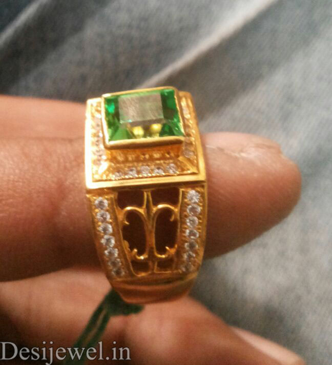 Rajasthani Gold Gents Ring Design  in Jodhpur with weight of 6.5 GM