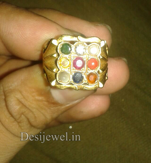 Rajasthani Gold Gents Ring Design  in Jodhpur with weight of 7 GM