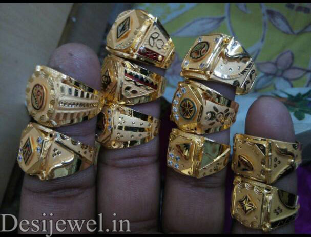 Rajasthani Gold Gents Ring Design  in Jodhpur with weight of 3-4 GM