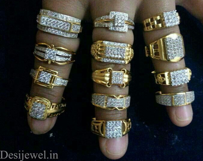 Rajasthani Gold Gents Ring Design  in Jodhpur with weight of 5-8 GM