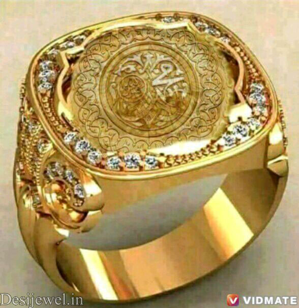 Rajasthani Gold Gents Ring Design  in Jodhpur with weight of 8 GM