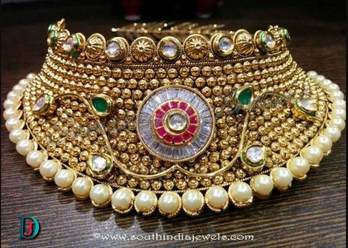 Gold Kundan Jodha-Haar jewellery in Jodhpur