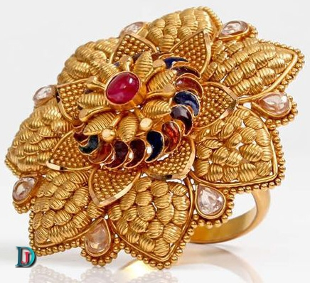 Marwadi Rajasthani Desi gold kundan Ladies-Ring
