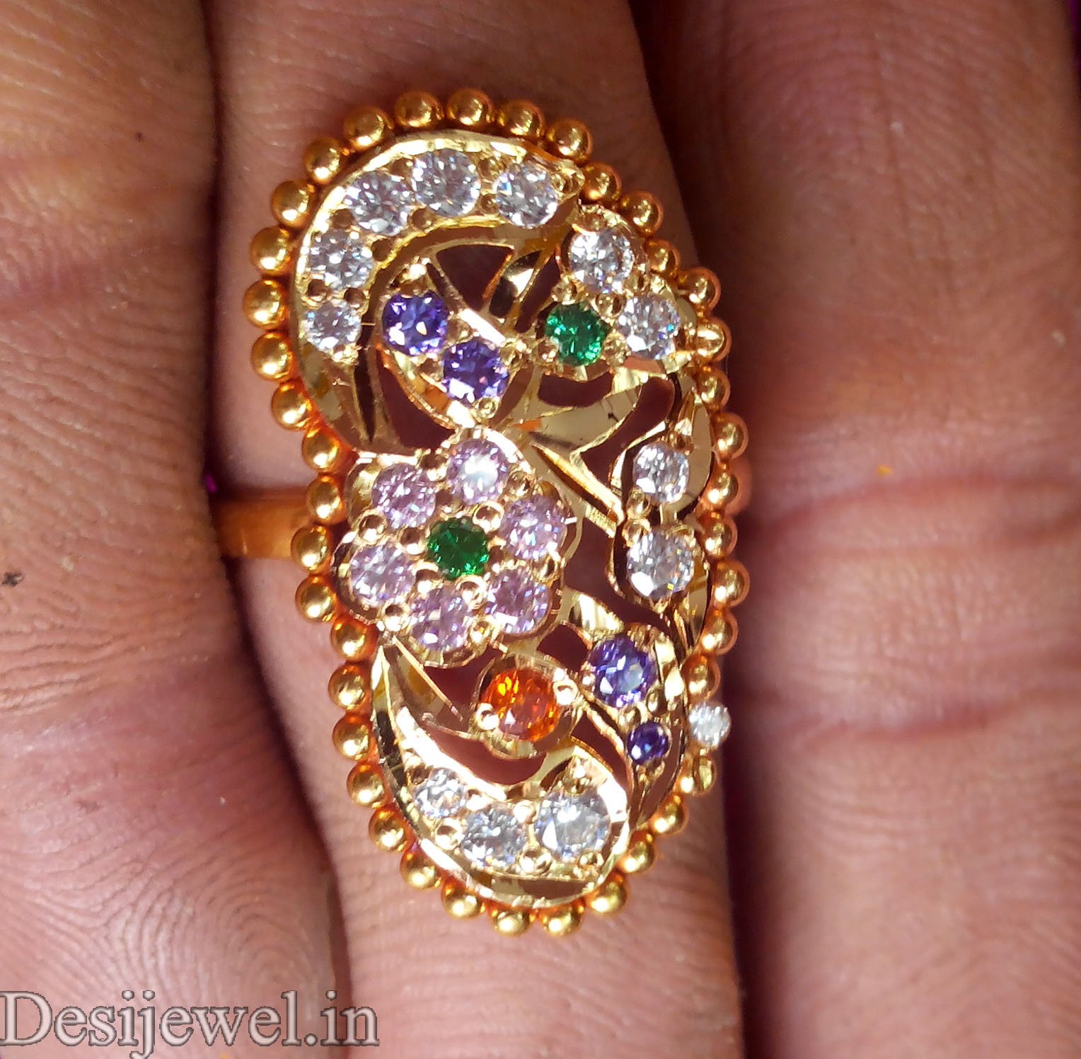 Rajasthani Gold Desi Ladies Ring Jewellery in Jodhpur with weight of 3 GM