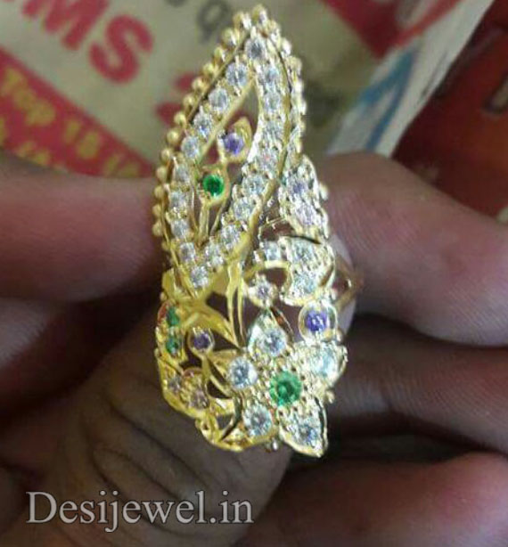 Marwadi Rajasthani Desi gold Ladies-Ring And Weight is 5 gm