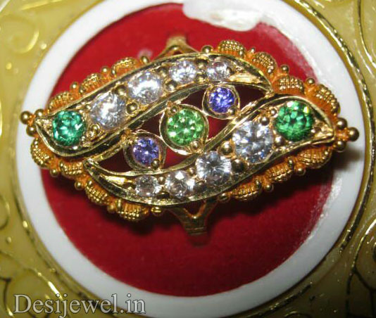 Marwadi Rajasthani Desi gold Ladies-Ring And Weight is 3.5 gm