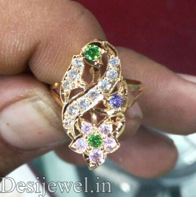 Marwadi Rajasthani Desi gold Ladies-Ring And Weight is 3 gm