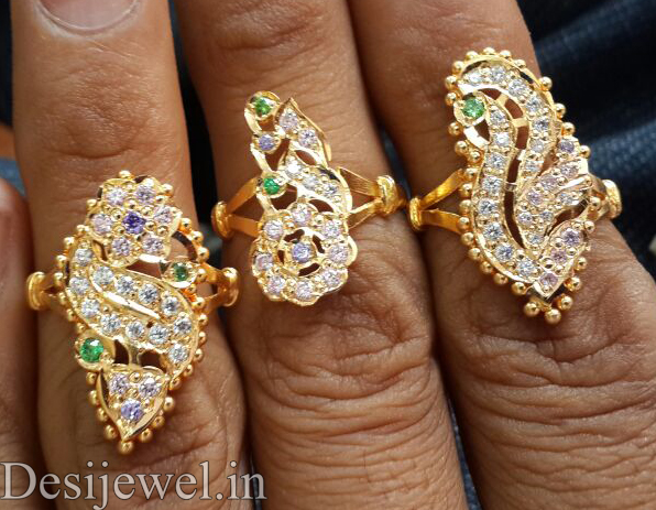 Marwadi Rajasthani Desi gold Ladies-Ring And Weight is 5-3-5 gm