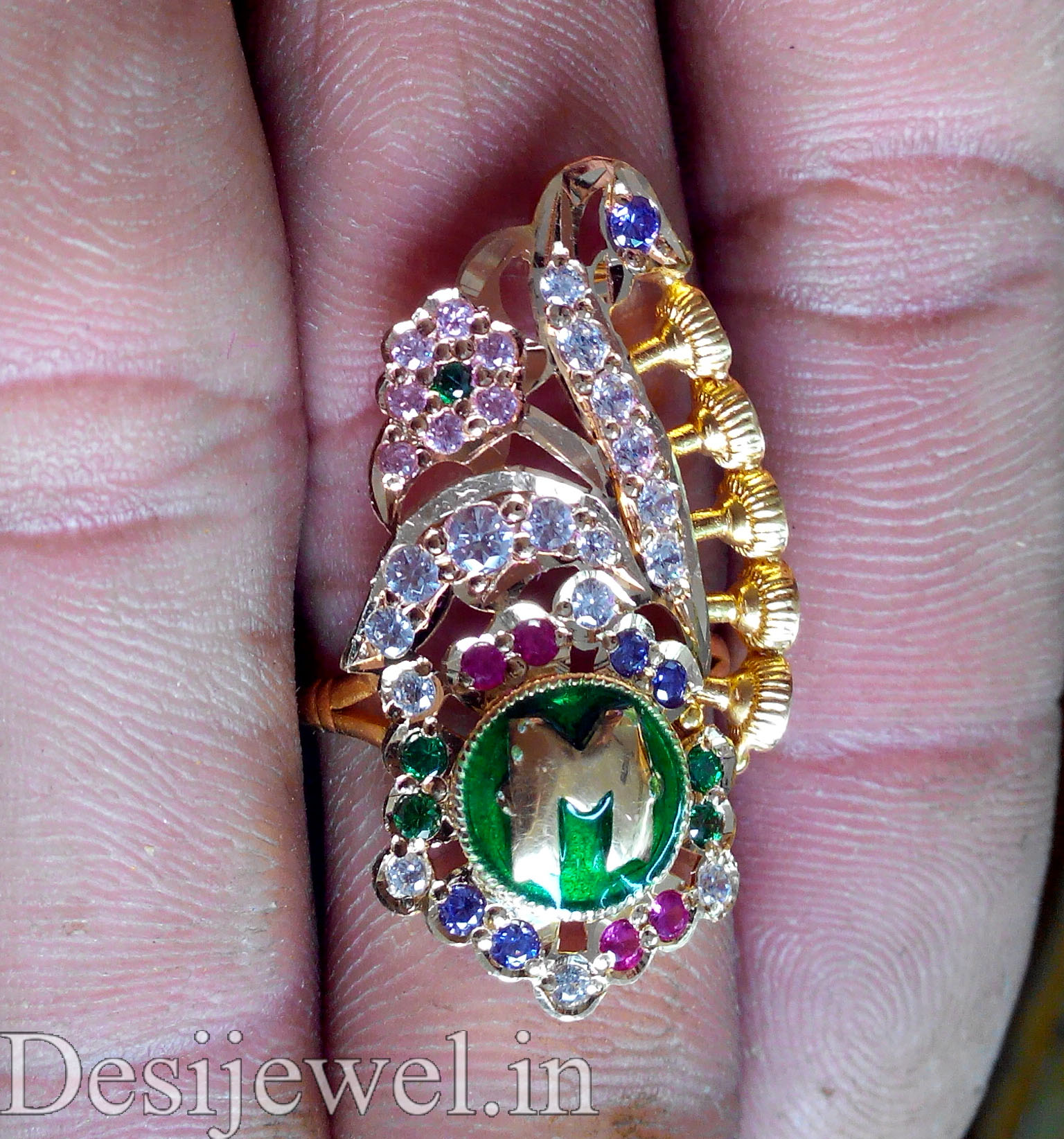 Rajasthani Gold Desi Ladies Ring Jewellery  in Jodhpur with weight of 5 GM