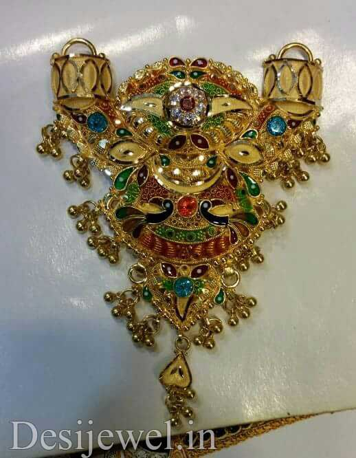 Marwadi Rajasthani Desi gold Mangalsutra And Weight is 25-30 gm