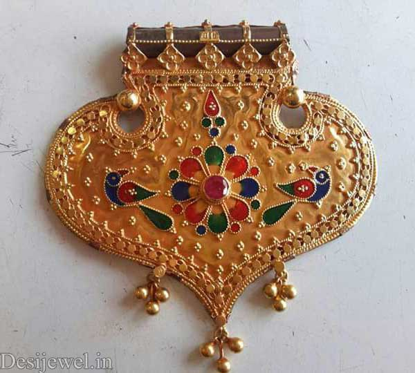 Marwadi Rajasthani Desi gold Gala-Pendal And Weight is 6 gm
