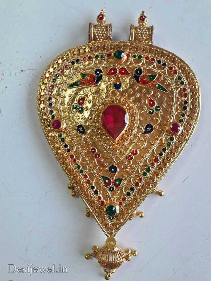 Marwadi Rajasthani Desi gold Gala-Pendal And Weight is 8-10 gm
