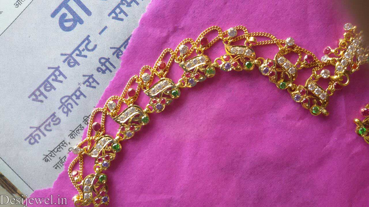 Marwadi Rajasthani Desi gold Rakhdi-Set And Weight is 28 gm