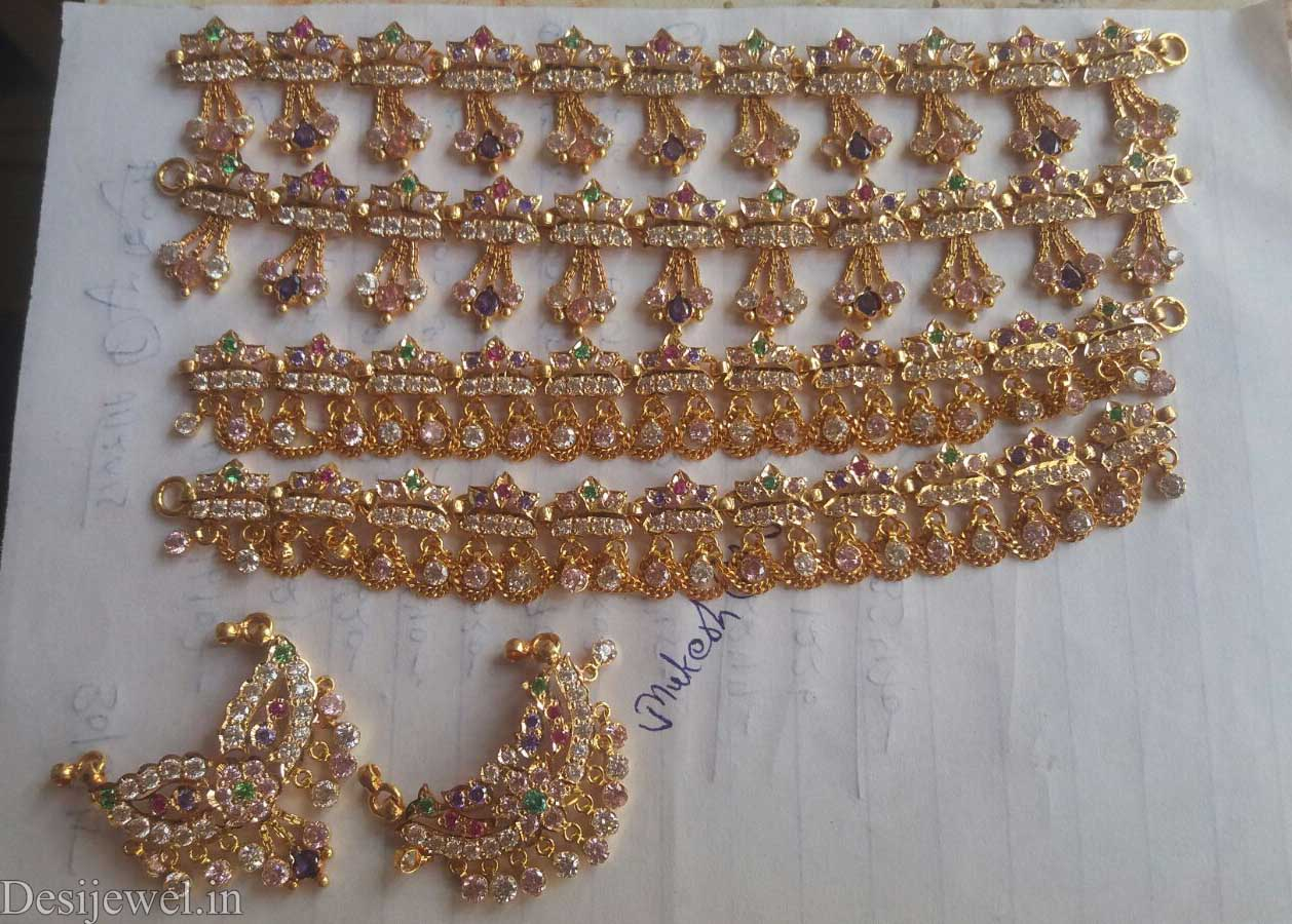 Marwadi Rajasthani Desi gold Rakhdi-Set And Weight is 18-20 gm