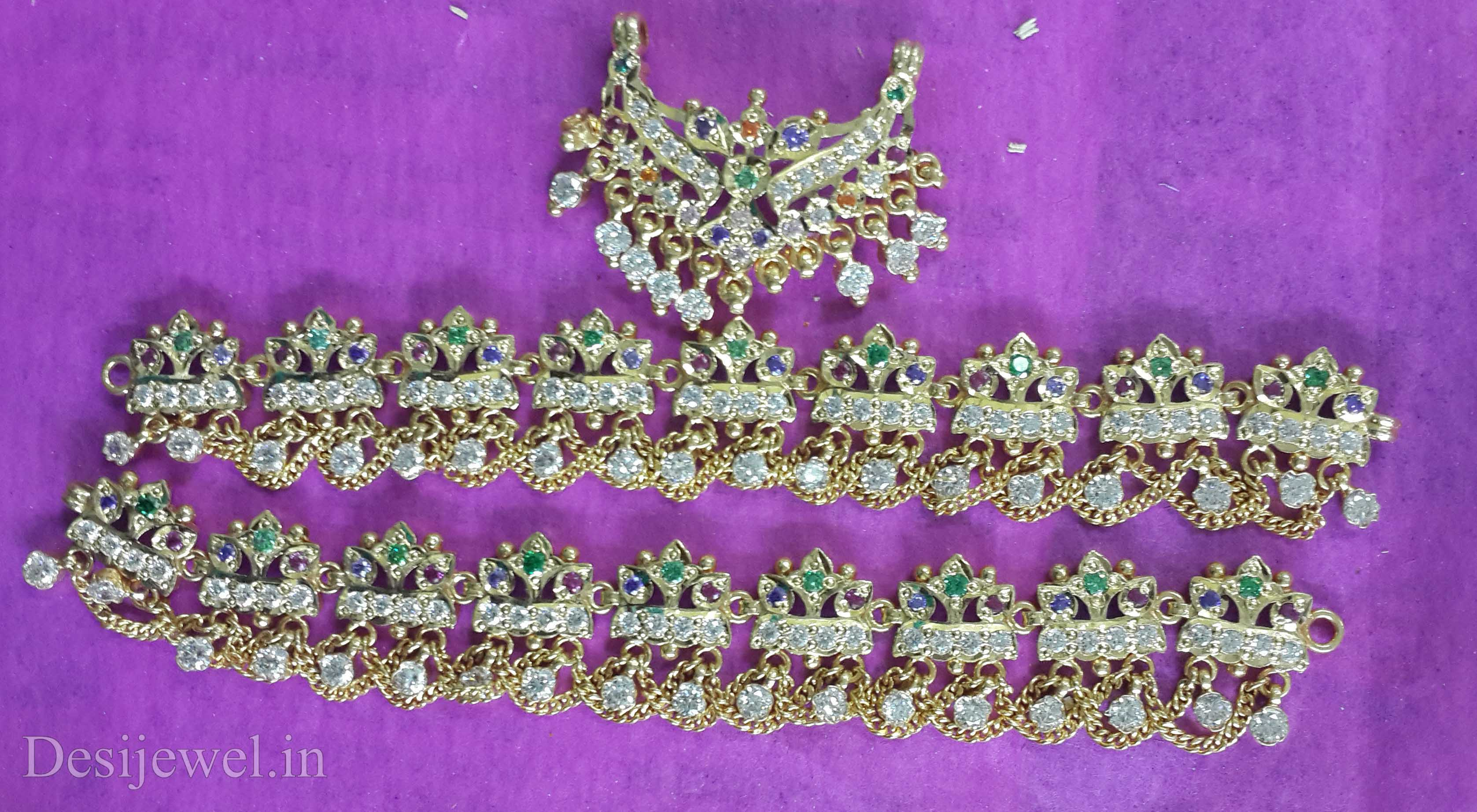 Marwadi Rajasthani Desi gold Rakhdi-Set And Weight is 19-34 gm